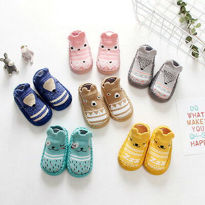 Baby Kids Toddler Cartoon Socks Anti-slip Sock Shoes Boots Floor Slipper Socks