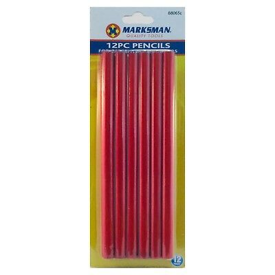 12 X Carpenters Pencils Joiners Woodwork Builders Soft Lead Wood Marking Pencil
