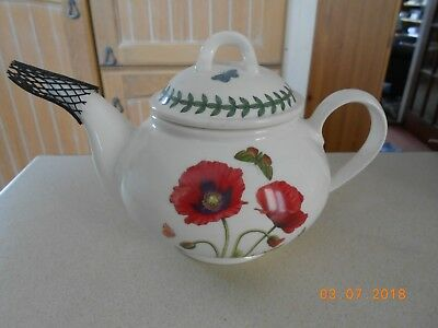 Portmeirion Botanic Garden Tea Pot - Poppy - Brand New