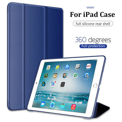 Magnetic Silicone Slim Smart Cover Case For Apple iPad 6th Generation 2018 9.7""