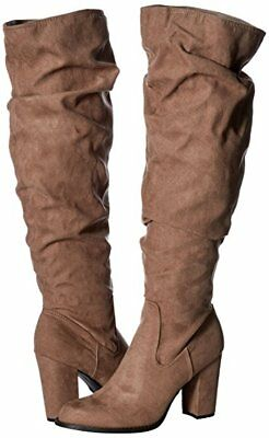 8058f246f0f MADDEN GIRL WOMEN'S Cinder Knee High Slouch Boot (Size 8 & 8.5) Dark Taupe