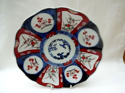 Antique Japanese Imari Plate - Three Friends Of Winter