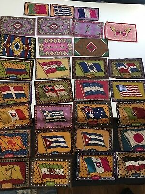 Vintage Cigar Felt Flags And Rugs Lot Of 30