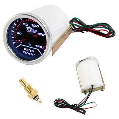 "2"" 52mm analouge Water Temp Temperature Celsius Gauge Vehicle Thermometer 7 colo"