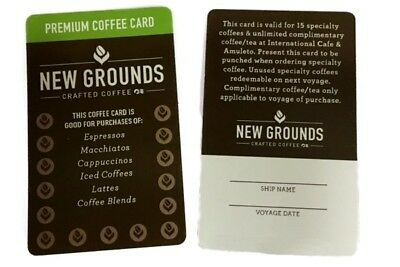 2 Brand New Princess Cruises New Grounds Coffee Cards Unused UnSigned FREE SHIP