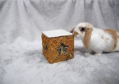 Christmas Xmas Festive Small Animal Golden Hay Cube Foraging Gift Box Treat