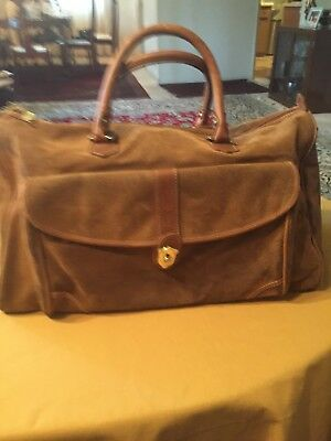 Brown Protocol Dura Suede DuraSuede Duffle Carry On Bag Computer Travel Bag