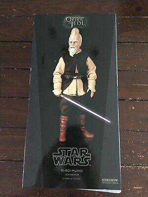Star Wars Sideshow Collectibles Ki Adi Mundi Jedi Master 1/6 Figure New MIB