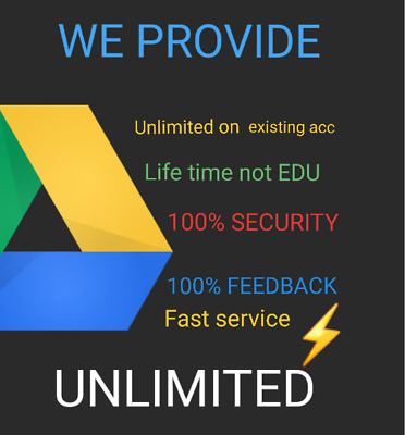 100% Secure GOOGLE DRIVE  UNLIMITED  STORAGE ON RIVE NOT EDU buy 2 win 1 free