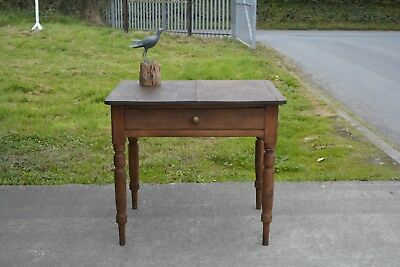 Antique Rustic Pine Desk with Drawer.