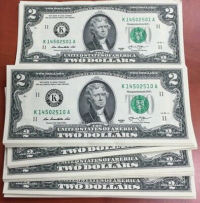 Etats-Unis Billet 2 dollars 2013 NEUF collection