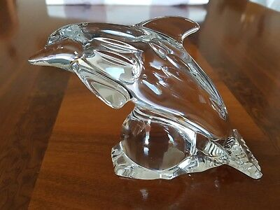 Galway Glas Irland Delfin Bleikristall Lead Crystal Dolphin from Galway Ireland