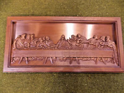 """Mid Century Modern COPPERCRAFT GUILD """"The Last Supper"""" Copper Wall Art Plaque #2"""