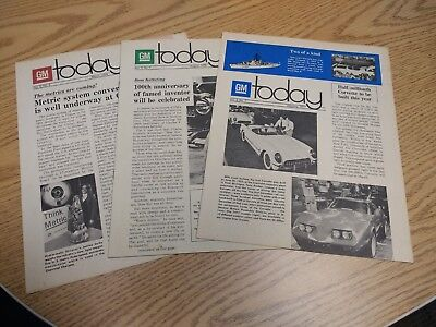 GM today, three newsletters from 1976-1977, General Motors