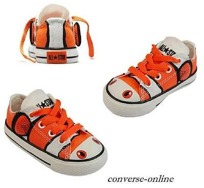 BABIES Boys Girls CONVERSE All Star FINDING NEMO FISH OX Trainer Shoes SIZE UK 3