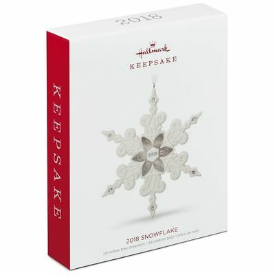 Hallmark Keepsake 2018 Snowflake Porcelain Ornament