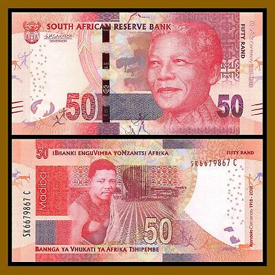South Africa 50 Rand, 2018 P-New Young Mandela Centenary Comm. Unc
