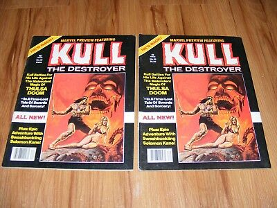 2 Marvel Preview #19 Featuring Kull The Destroyer Solomon Kane 1979 FREE SHIP