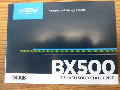 Crucial BX500 240GB 3D NAND SATA 2.5-inch SSD # CT240BX500SSD1 ( Brand new)