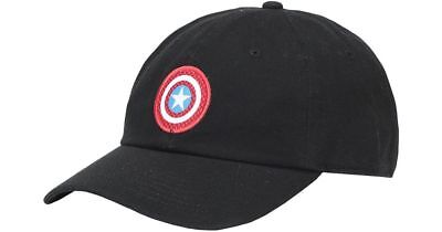 d54ebb8564e Vans x MARVEL CAPTAIN SHIELD COURTSIDE Hat (NEW) Black Strapback Cap FREE  SHIP!