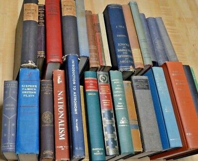 Lot of 10 ANTIQUE Vintage Books Collection Set Unsorted Mixed hardcover pre 1970