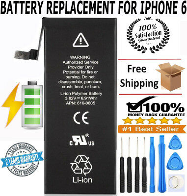 **NEW** iPhone 6 Replacement Battery 616-0805 1810mAh with FREE TOOL KIT