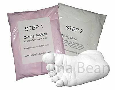 REFILL POWDERS - for Luna Bean INFANT HAND or FOOT 3D Life Casting Mold Kit New
