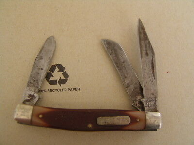 Schrade  Old Timer N.y. Usa  34Ot Middle Stockman..