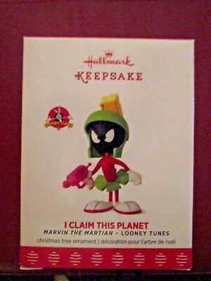 2017 Hallmark Limited Keepsake Ornament I Claim This Planet  Marvin The Martian
