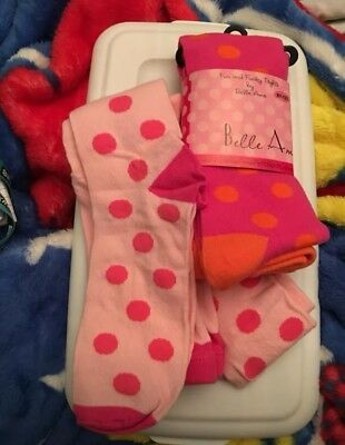 Girls sz 9-12 yr Belle Ame thick tights & shopkins footie/bootie socks