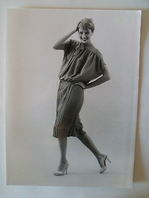 ▬►1978 PHOTO de Presse ORIGINALE Robe Jean PATOU Mode Fashion Vintage