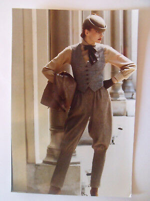 ▬►1979 Photo de Presse ORIGINALE Ensemble GUY LAROCHE MODE FASHION VINTAGE