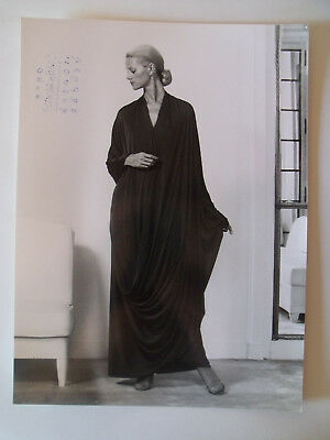 ▬► 1978 PHOTO de Presse ORIGINALE Robe d'hôtesse GRÈS Mode Fashion Vintage