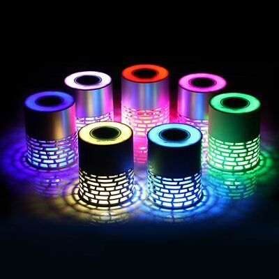 Q5 Bluetooth Speaker Colorful LED Touch Button Hollow Design Support TF Card BR