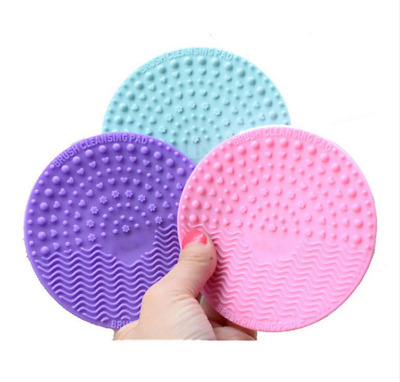 Cleaning Scrubber Pad Glove MakeUp Brush  Washing Cleaners Round Mat Silicone