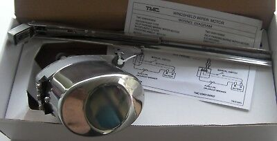 Tmc Boat Windscreen Wiper Motor, Stainless Version With Arm And Blade, 12 Volt