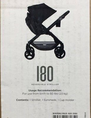 Ergobaby 180 Reversible Stroller with One-Hand Fold,