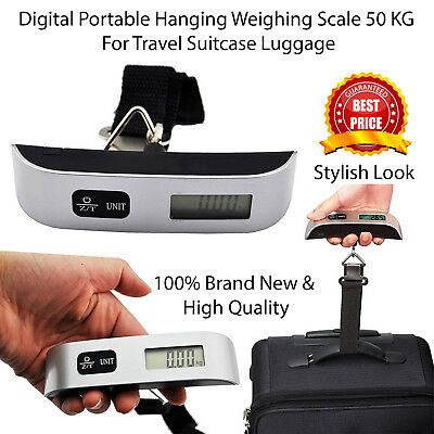 Handheld 50kg Digital Travel Weighing Luggage Scales Electronic For Bag Suitcase