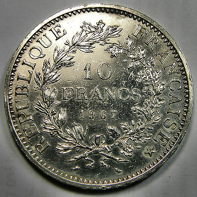 1967 France, 10 Francs Silver Coin