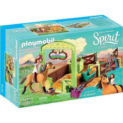Playmobil Dreamworks Spirit Riding Free: Lucky & Spirit with Horse Stall NEW