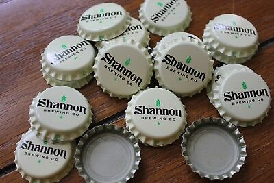 500 Shannon Brewing Co Beer Bottle Caps Uncrimped Off White Free Fast Shpng