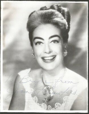 Golden Age of Hollywood Icon Joan Crawford 1960s Vintage Autographed Photograph