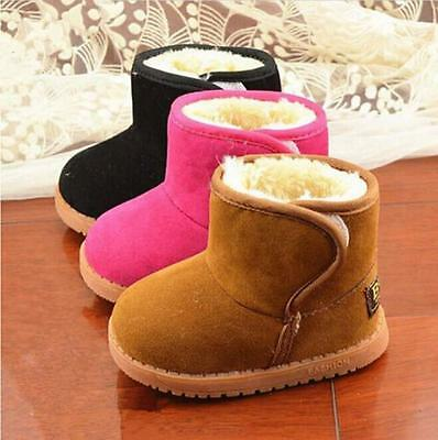 Infant Baby Toddler Warm Boots Kids Boys Girls Winter Snow Fur Shoes 6A