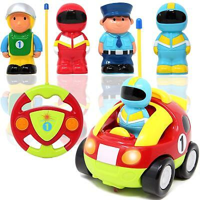 Toy Cartoon RC Race Car Radio Remote Control Music Sound Play Kids Baby Toddler