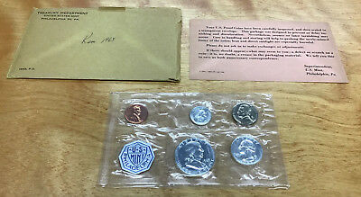 1963 Proof Set 5-Coins In Original Plastic With Outer Envelope