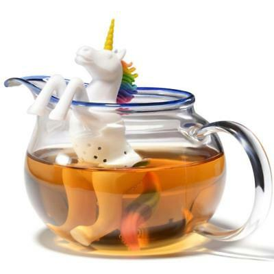 Unicorn Tea Infuser Loose Leaf Strainer Silicone Herbal Spice Filter fast UK new