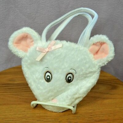 American Girl ANGELINA BALLERINA White PLUSH Mouse Face Child PURSE Hard to Find