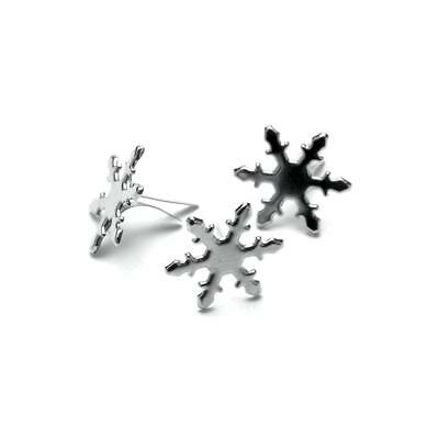 SILVER SNOWFLAKE BRADS (PACK OF 50) - Creative Impressions