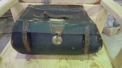A Irving Brothers Makers Glasgow Leather Portmanteau Travelling Case Trunk