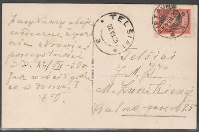 Lithuania 1930 Domestic Post Card with Mi 289?